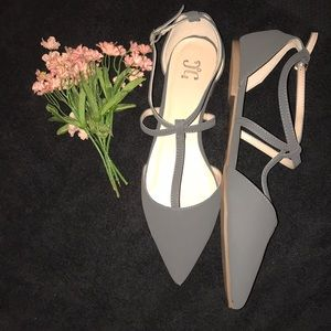 Shoes - NEW IN BOX gray flats